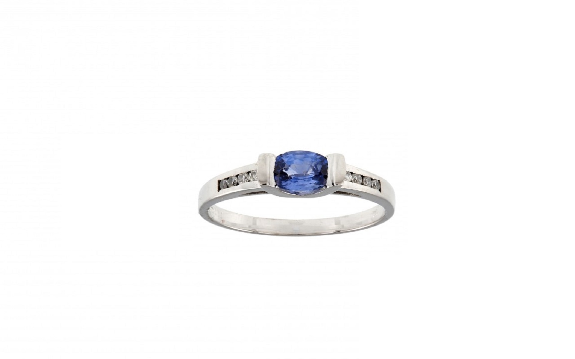 Top 48410362 Bague saphir ovale 0.6CT Or blanc 750/1000 – Malique  DV04