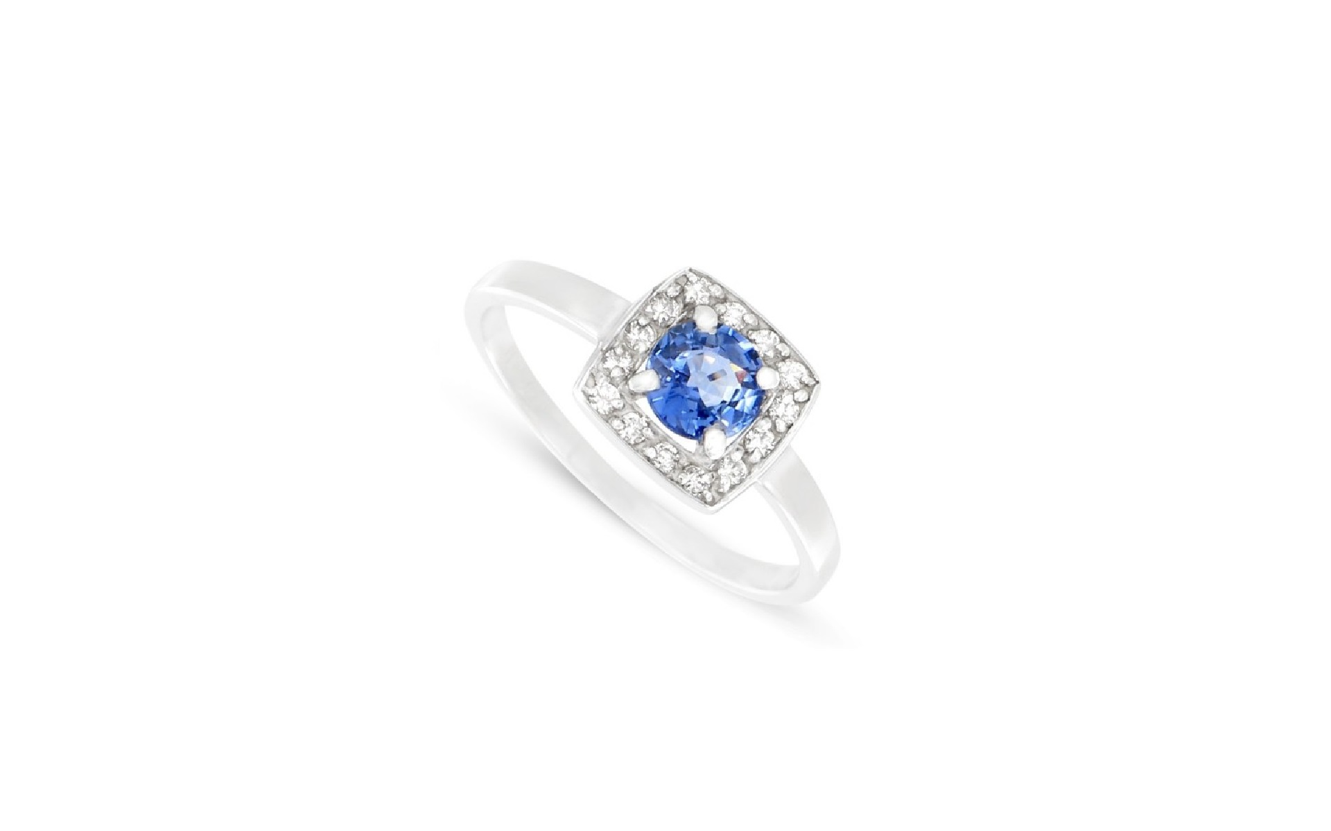 Favori Bague Saphir et diamants Or blanc 750/1000 – Malique bijoutier  WH11